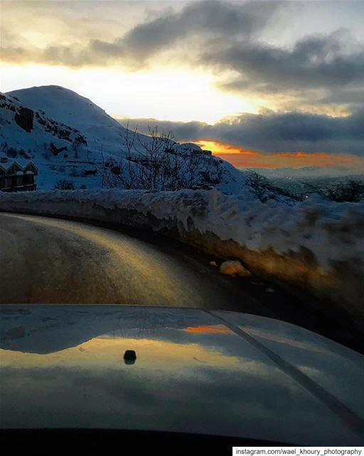 instagood love beautiful art photography photooftheday road sunset ... (Faraya, Mont-Liban, Lebanon)