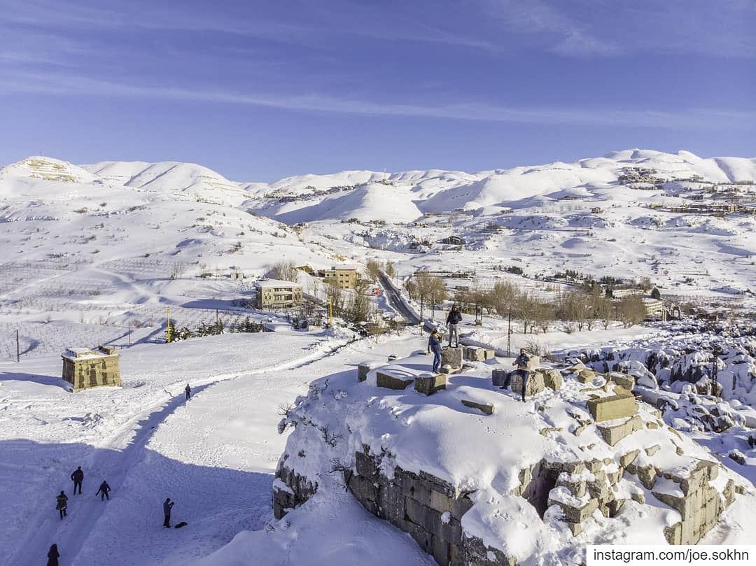 White Faqura ruins ❄.......... lebanon livelovebeirut faqura ...