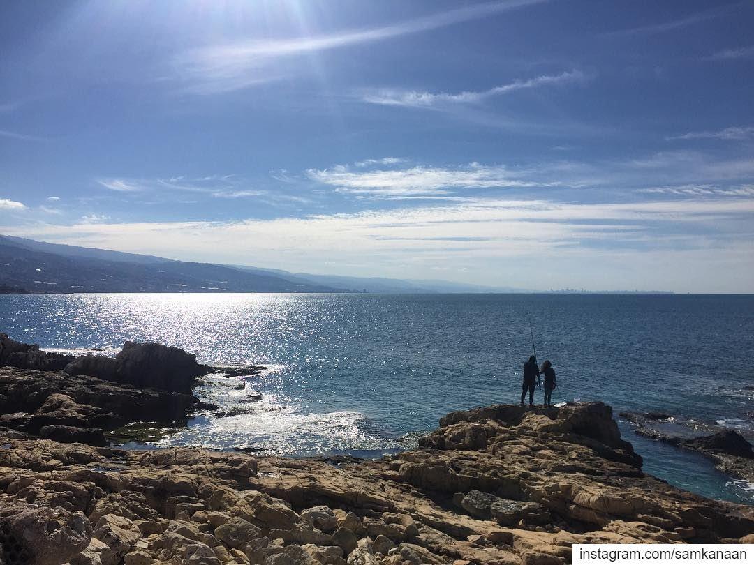 saturday weekendvibes seascape beautifulday letsgosomewhere ... (Amchitt, Mont-Liban, Lebanon)