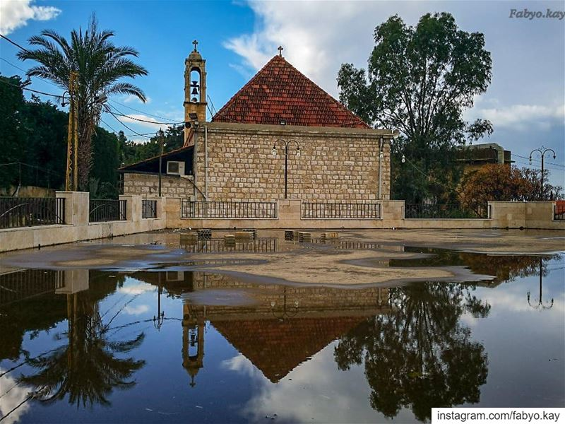 sunday libanon dbayeh church reflection naturelovers prayers winter... (Dbayeh)