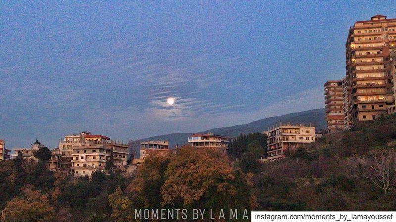 🌕 landscapephotography landscape naturephotography nature fullmoon... (Bakhoun, Liban-Nord, Lebanon)