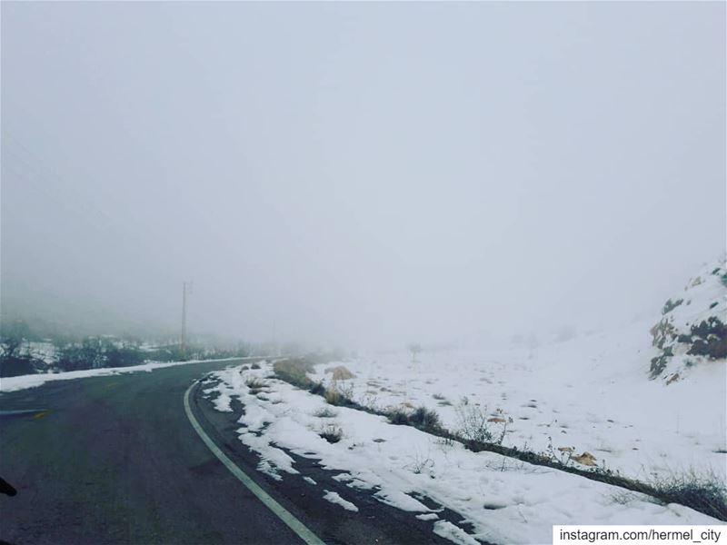 Heavenly road by @mohamad.mahfouz7 jord_elhermel Hermel Bekaa lebanon🇱 (El Hermel, Béqaa, Lebanon)