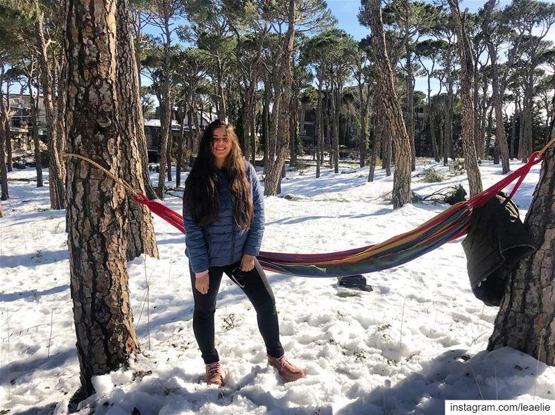 ☀️⛄️💕 Familyday Snowyday Snow Lebanon Bologne Forest Trees Nature Love... (Bologne, Mont-Liban, Lebanon)