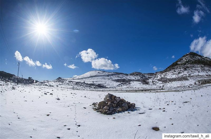 <<<< ❄️ landscape nature mountains snowy snow instagood ... (Kfar Hoûné, Al Janub, Lebanon)