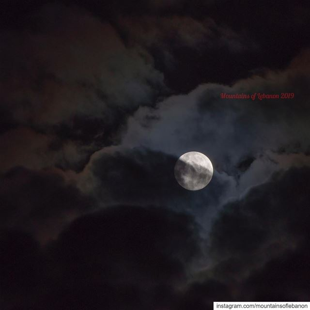 January 2019 First Full (clouded) Moon and it's a Super Moon as Well!...