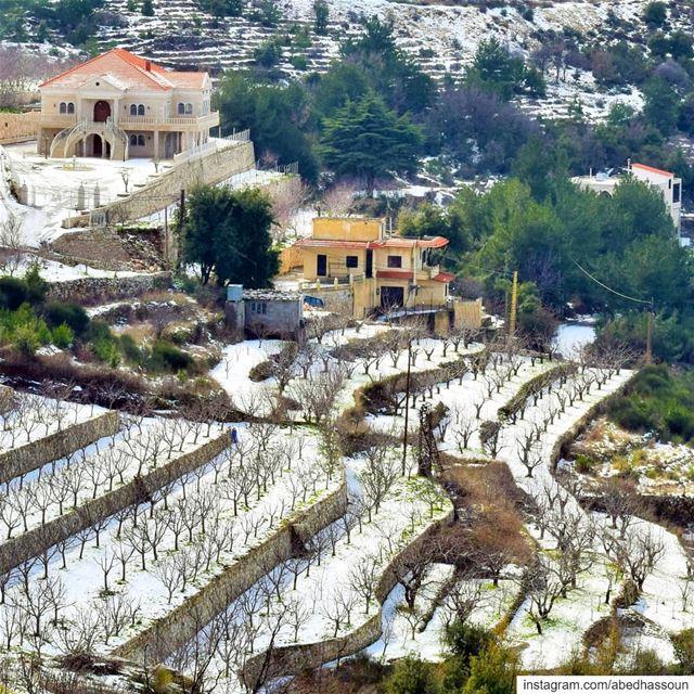 Morning ❄❄❄.......... LiveLoveBcharri بشري bcharre bcharri ... (Bcharré, Liban-Nord, Lebanon)