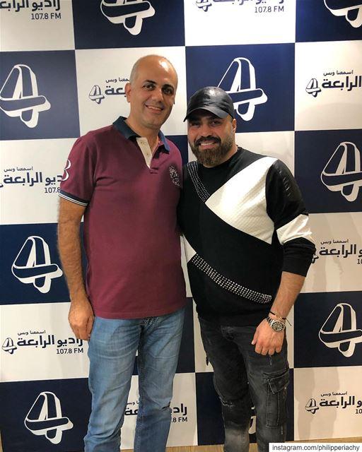 مع النجم ربيع جميل في استديوهات راديوالرابعة.... alrabiafm alrabia1078... (Al Rabea 107.8 FM)