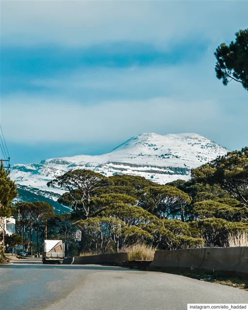 Lebanon 🇱🇧 LiveLoveLebanon LiveLoveBeirut Snow White Nature Sky ... (Falougha, Mont-Liban, Lebanon)