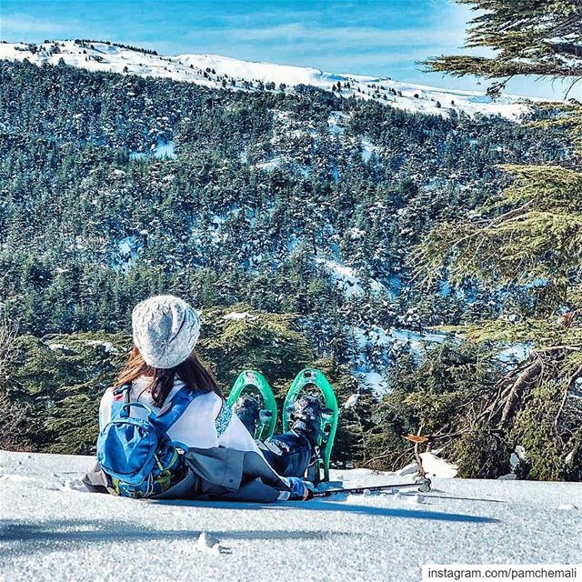 Back to these beautiful whitedays ❄ and to those captures by my amazing... (Hadath El-Jubbah, Liban-Nord, Lebanon)