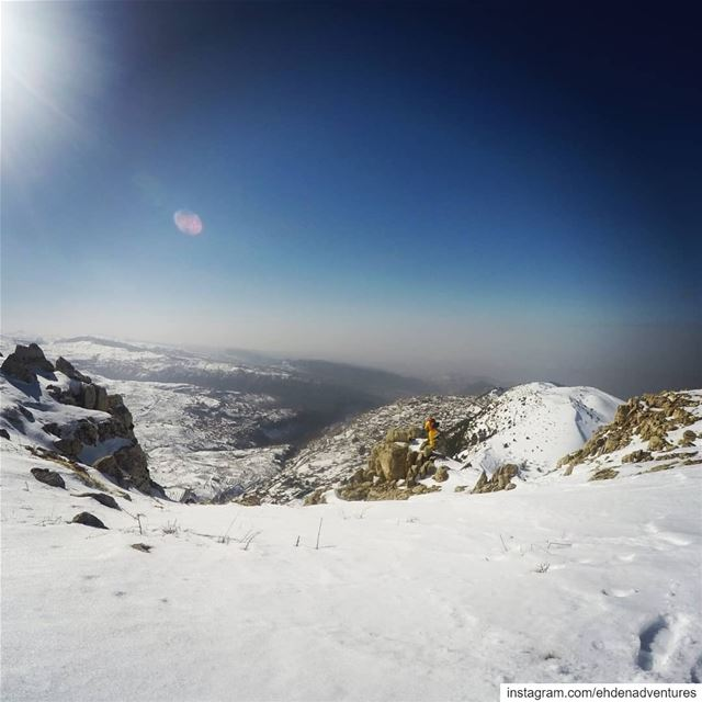 ehden snow salib cross landscape lebanon dog travel ... (Ehden, Lebanon)