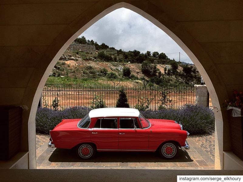 Welcome home sweetheart.———————————————————————— mercedes classic 190 ... (Lihfid, Mont-Liban, Lebanon)