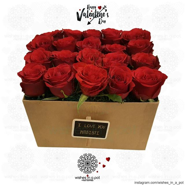 Blooming roses for the one you loveGet them this box on  valentinesday : + (Beirut, Lebanon)