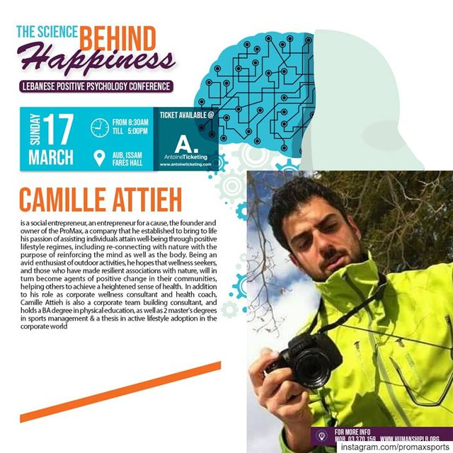 Repost @humanshiplb Does Nature Makes us happy? Meet our speaker Camille... (Beirut, Lebanon)