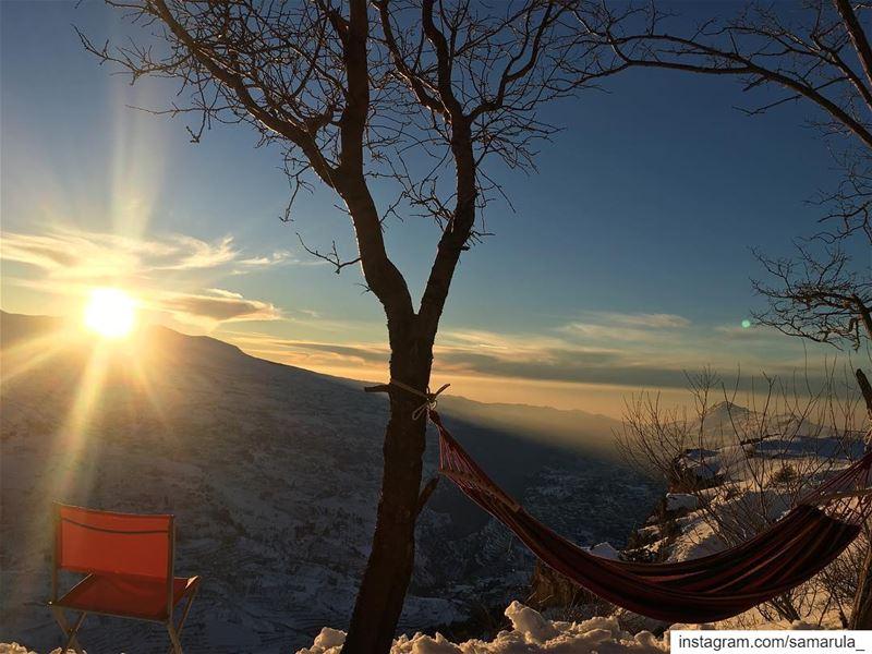 The eye of God ! samarula sunset view from cedarsofgod sun cloud ... (Cedars of God)