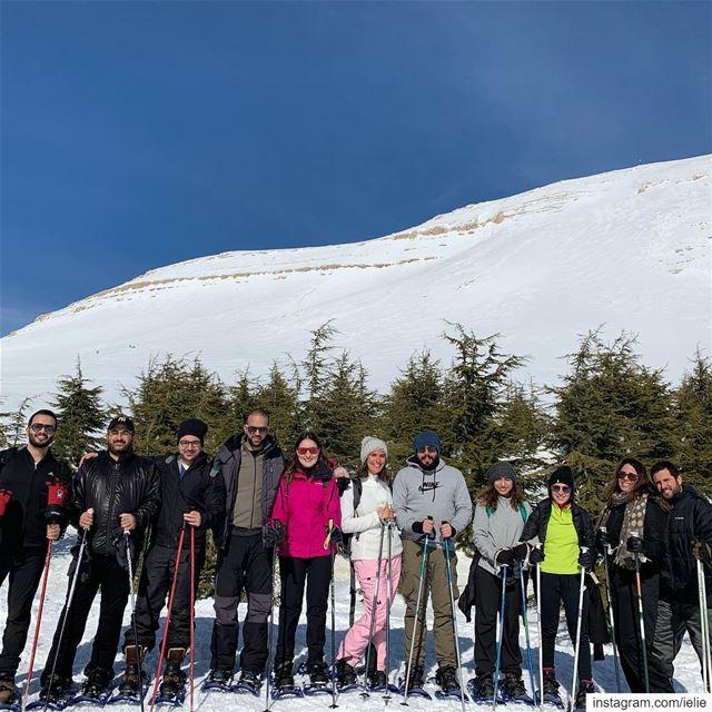 snowshoeing sannine QanatBakish Lebanon Snow Fitness motivation ... (Qanat Bakish, Mont-Liban, Lebanon)