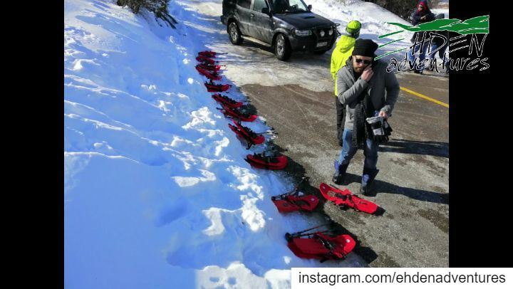 snowshoeing snow tour rent mikesportleb thenorthface mikesport ... (Ehden, Lebanon)
