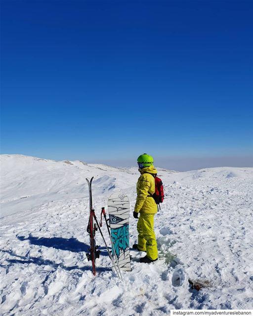 ⛷ or 🏂 ? myadventureslebanon mountaineering choosemountains ... (Zaarour Club)