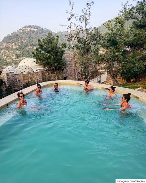 15°C in the air, 36°C in the water 😊 bkerzay heatedpool lebanon ... (Bkerzay)
