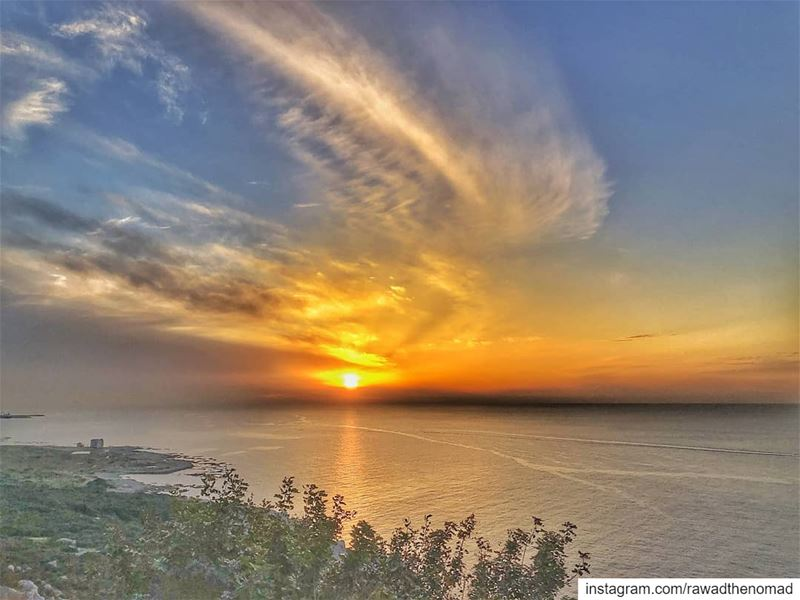 postcard it 🇱🇧..... lebanon🇱🇧  lebanon_hdr  lebanon  sunset ... (Chekka)