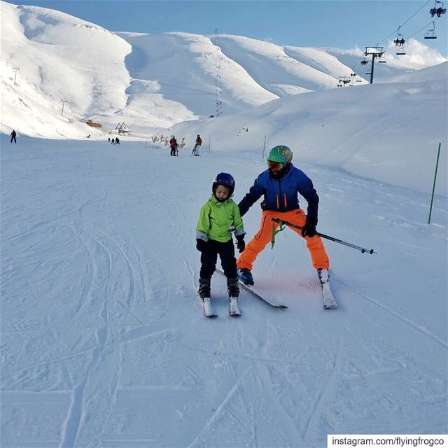 Teach them young!!Book your kids ski lessons now, perfect conditions for... (Mzaar Ski Resort Kfardebian)