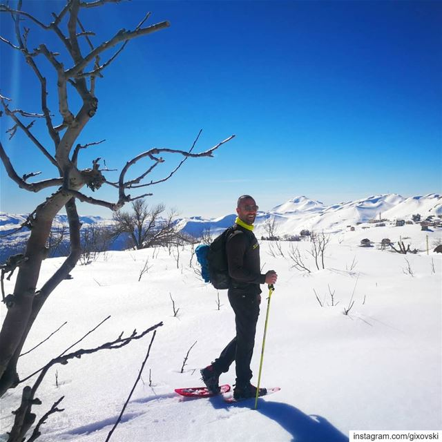 When life gives you snow, go snowshoeing..... mothernature nature ... (El Laklouk, Mont-Liban, Lebanon)