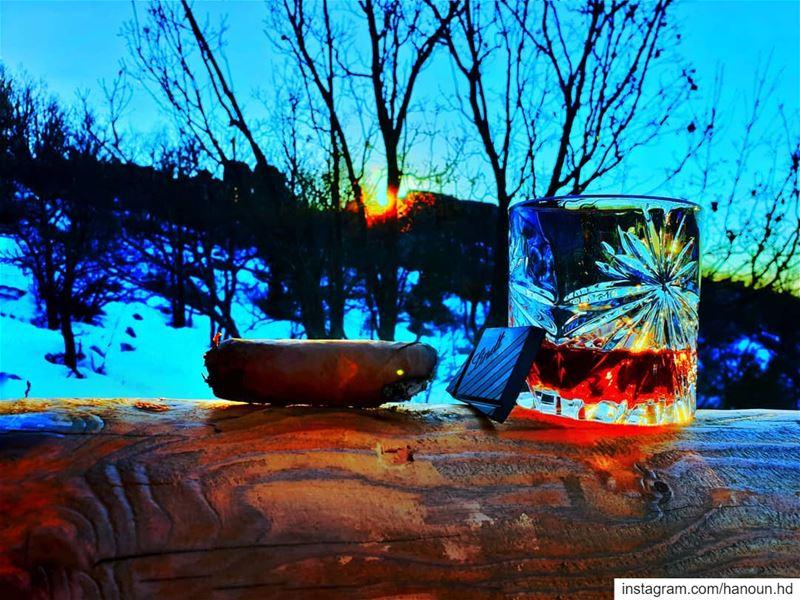 cognac darkchocolate sigar mood lebanon moutains sunset ... (Lebanon)