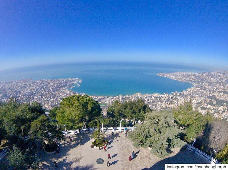 Good MorningHave a blessed Sunday 😇... (Harîssa, Mont-Liban, Lebanon)