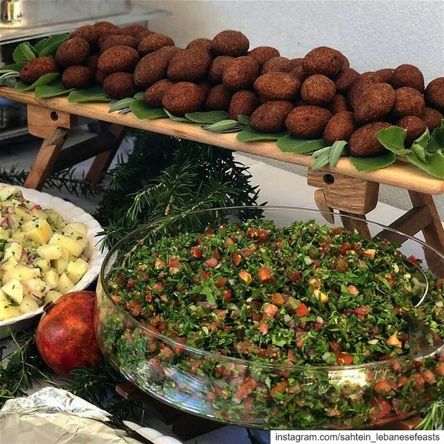 It was our pleasure to put together this traditional Lebanese food spread...