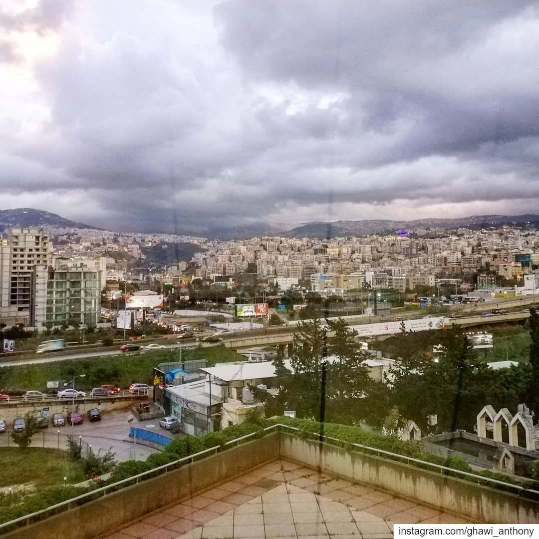 When you take a picture from the window📸☁️... (Beirut, Lebanon)