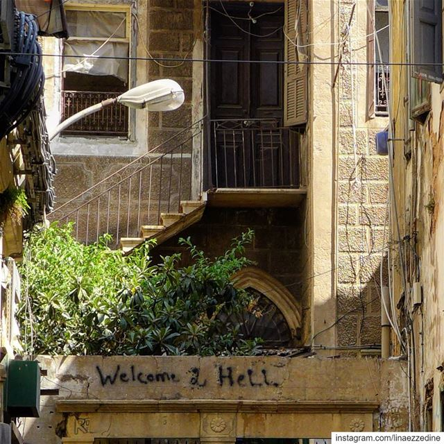 Welcome to hell...🔥🙈.. abandonedplaces  beirut  urbexphotography ... (Basta Faw2a)