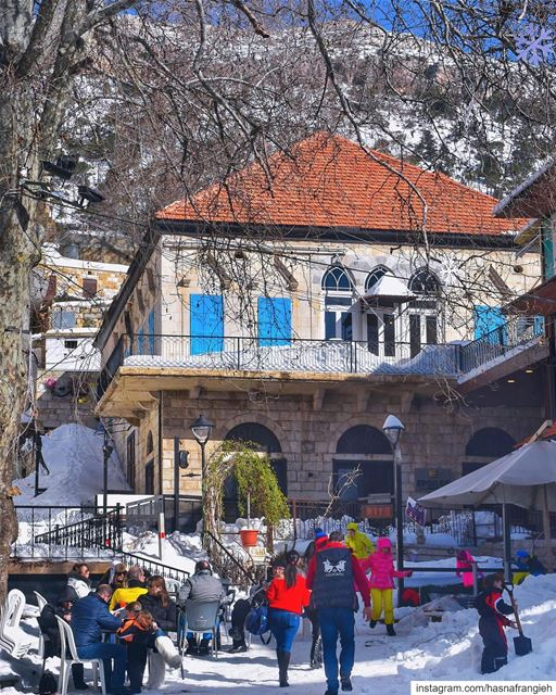Colors of happiness shining in the heart of  MidanEhden all year long 😍🏠❄ (Al Midan Ehden)