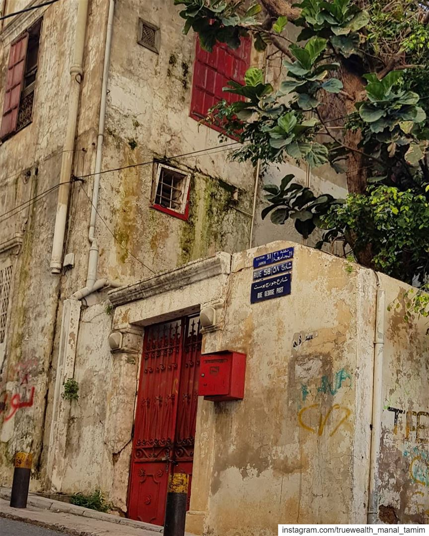 Do you remember when we painted our doors and windows..Why did we choose... (Ain El Mreisse, Beyrouth, Lebanon)