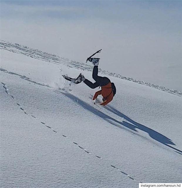 snow snowing snowshoeing 🤸♂️ 🥶 🤦♂️ lebanon ... (Zaarour)