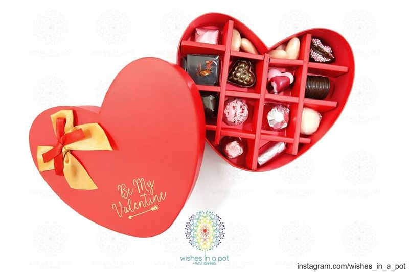 Belgium chocolate heart box Wish for it now: +961 71159985 libanon ...