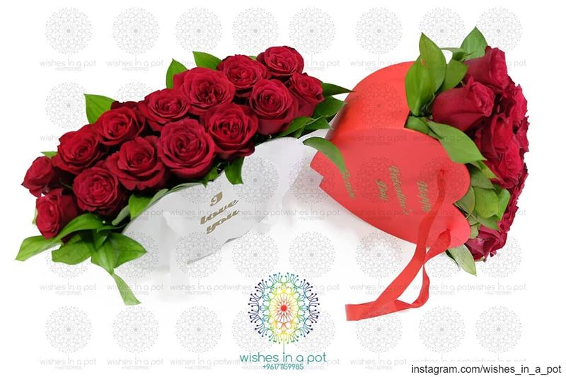 Customized heart of roses available in 2 colorsOrder it now: +961...