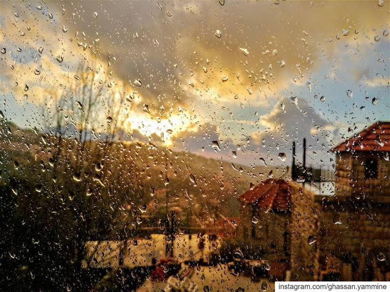 Tears...By Ghassan_Yammine rain storm sunset sunset_vision ...