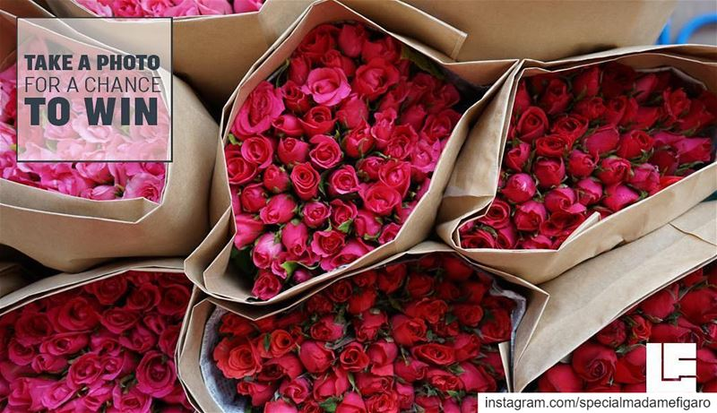 Win 500$ 💵!! On February 13, 14 and 15, you'll find red roses bouquets...
