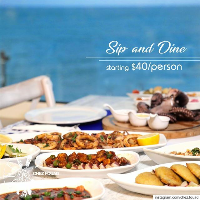 SIP AND DINE facing the breathtaking view @chez.fouad starting $40/person... (Chez Fouad)