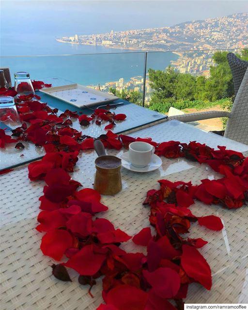 قهوتي في عيد الحب اخترتك انت لتكون حبي الاول و الاخير كل يوم بقربك هو... (Amar - قمر)