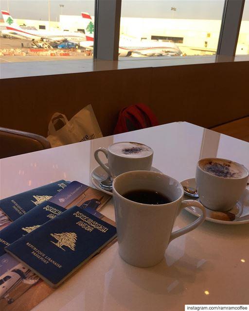 اللحظات الجميلة ليست اين تكون بل مع من تكون.... ramramcoffee ... (Beirut–Rafic Hariri International Airport)
