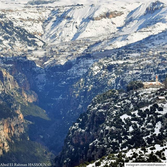 Amazing view ❄❄❄.............. LiveLoveBcharri بشري ... (Bsharri, Lebanon)