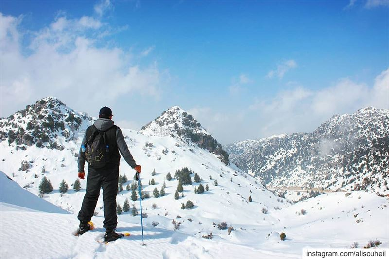 tb  ehmej  mountains  mountlebanon  snow  winter  sky  cedars ... (Ehmej, Mont-Liban, Lebanon)