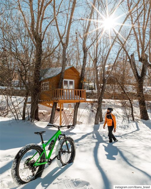 🇱🇧🇧🇷 Bom (lindo) dia de inverno nas montanhas nevadas do nosso amado Lí (Laklouk Village Vacances)