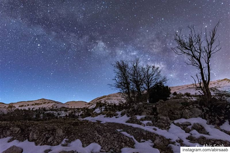 Heaven is not so far coz here we are, under the stars....  lebanon ... (Lebanon)