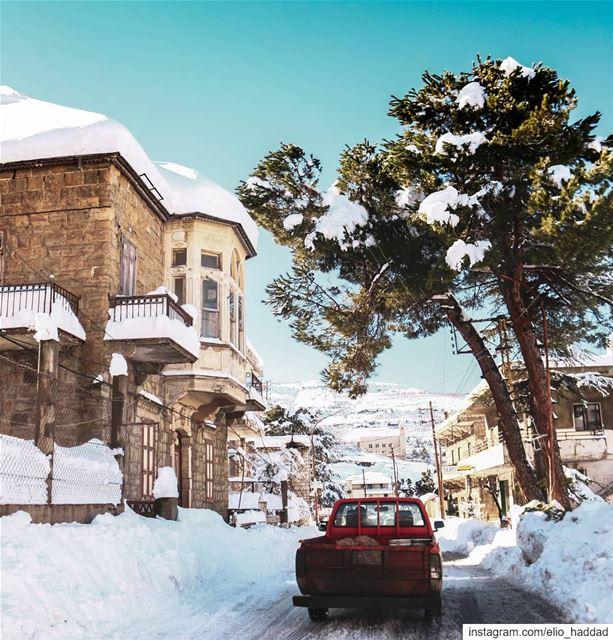 Good Morning Hasroun 🇱🇧❄️ Lebanon Hasroun Bcharre Snow Morning ... (Hasroun)