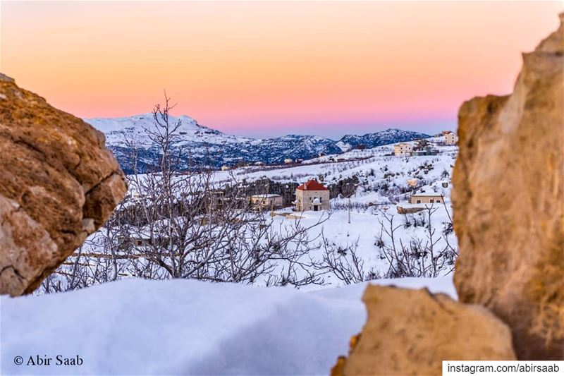 A fresh, colorful & freezing sunrise from the splendid Akoura .. lebanon... (Akoura, Mont-Liban, Lebanon)