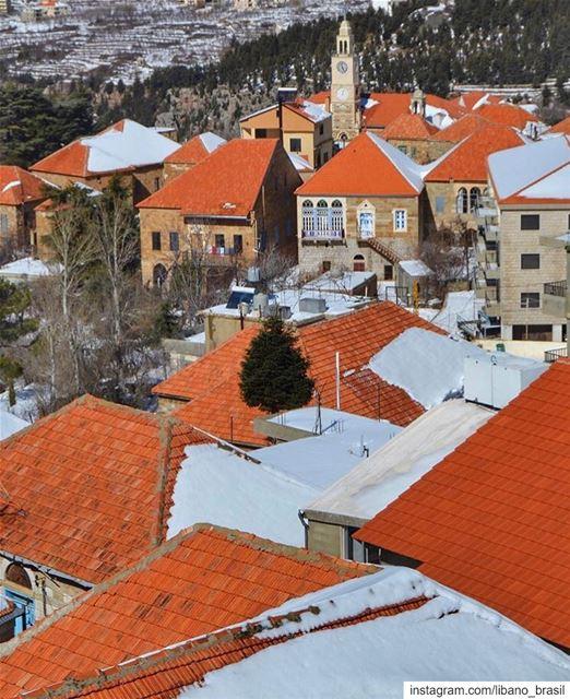 """🇱🇧🇧🇷 Hasroun, vilarejo no norte do Líbano, é muitas vezes chamado de """"a (Hasroun)"""