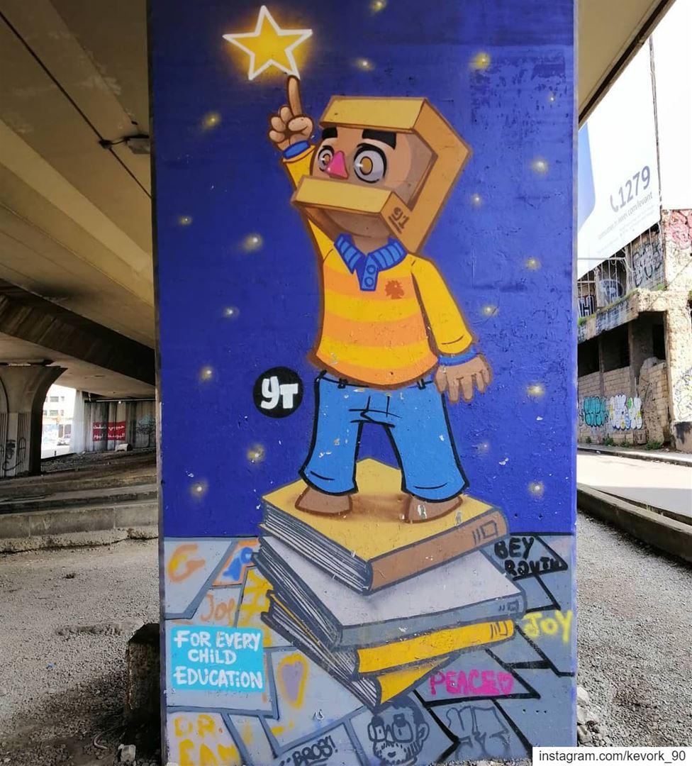 For every child education... graffiti streetartbeirut mural ... (Beirut, Lebanon)