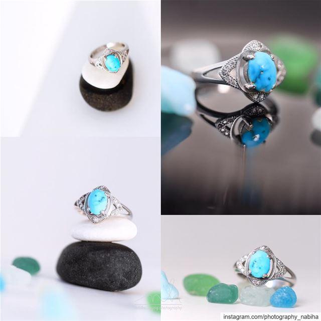 Feroza Ring Turquoise silver lebanese_photographer beirut macro...