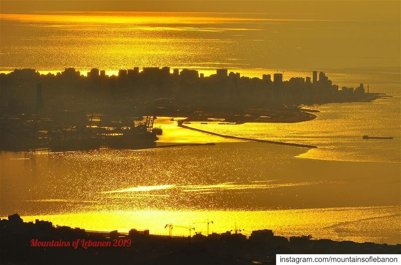 Golden Sea, or Sea of Gold? goldensea  gold  seaofgold  sunset ...